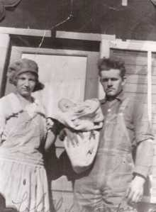 Grandad Edwards with Grandma in their late teens. She would bare 8 alive and 16 unfortunate stillborns.